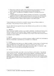 English worksheet: AIDA