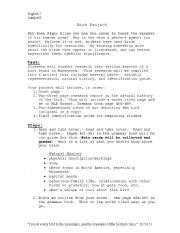 English Worksheets: Bird Project