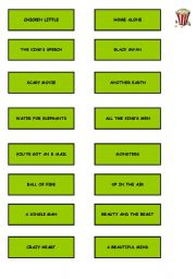 English Worksheets: guess the movie part 1
