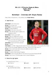 English Worksheets: Reading comprehension text
