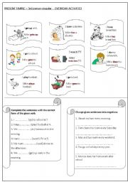 English worksheets: Simple Present worksheets, page 470