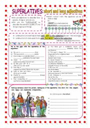 English Worksheet: Superlatives (short and long adjectives)