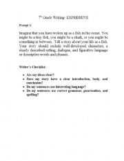 English Worksheets: Writing Expression