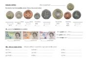 English Worksheet: English money