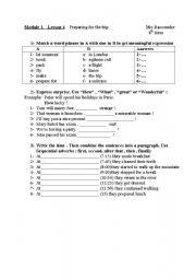 English Worksheets: consolidation exercises