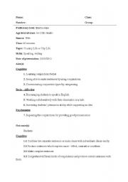 English Worksheet: Country Life or City Life Lesson Plan