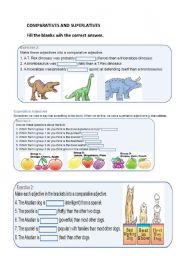 superlatives and comparatives this workcheet is for begginers and they ...