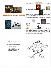 English Worksheets: The true legend of Jack o�Lantern.- Spooky Halloween.