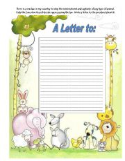English Worksheets: A Letter to