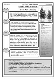 summary writing - ESL worksheet by nurjis