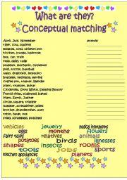 English Worksheets: Conceptual matching