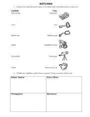 English Worksheet: Careers Matching