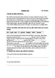 English Worksheets: 8th remedial work