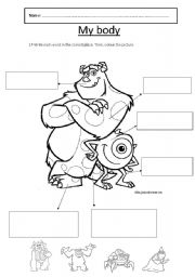English Worksheets: Body. Mike and Sully