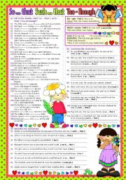 English Worksheets: ***SO...THAT / SUCH...THAT / TOO / ENOUGH*** (B&W+KEY included)