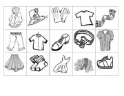 English Worksheets: Clothes Memory Game