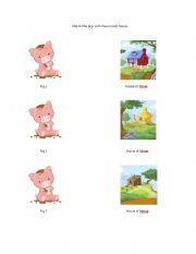 English Worksheets: 3 Little Pigs Activities