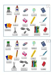 English Worksheet: How much stationary asking prices