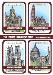 The London Landmarks Game - Part 1 - Churches