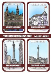The London Landmarks Game - Part 2 - Must-sees