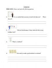 English Worksheets: Model of worksheet