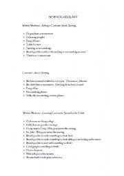 English Worksheets: Making Reservation