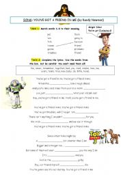English Worksheets: Song: