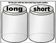 English Worksheet: short long vowel sounds