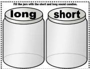 English Worksheet: short long vowel sounds