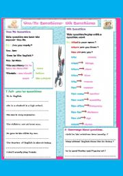 English Worksheets: Yes/No Questions -  Wh Questions