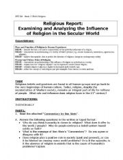 English Worksheets: Secularism