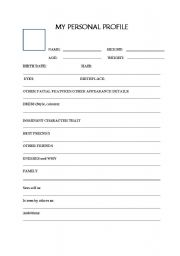 English Worksheets: Create Your Profile