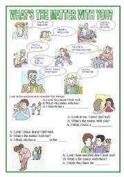 English Worksheet: What´s the matter with you?