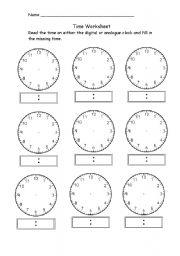 Time worksheet new 154 time worksheet blank clocks english worksheets teaching clocks blank worksheet time time ibookread ePUb