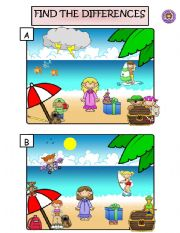 English Worksheets: FIND THE DIFFERENCES AND WRITE SENTENCES