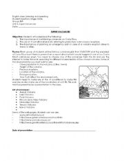 English Worksheet: Super volcanoes homework