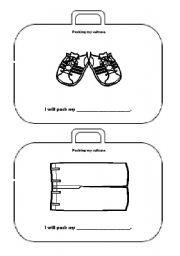 English Worksheet: packing