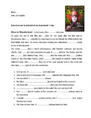 English Worksheets: Present and Continous Present