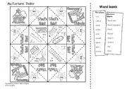 English Worksheet: Classroom Objects - Fortune Teller