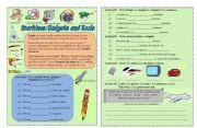 English Worksheet: Modren Gadgets and Tools