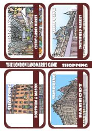 The London Landmarks game - Part 7 - Shopping