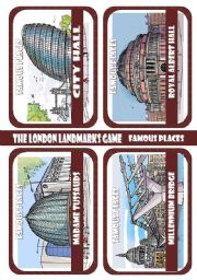 The London Landmarks Game - Part 4 - Famous buildings