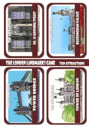 The London Landmarks game - Part 6 - Top attractions