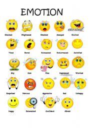ESL kids worksheets: emotions part 2