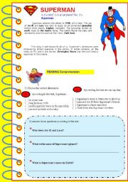 SUPERMAN - Reading and text comprehension