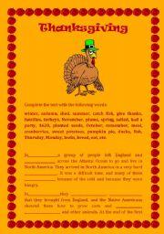 Festivals: Thanksgiving