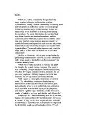 English Worksheets: Text: Orkut