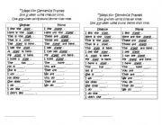 English Worksheets: Journal sentence frames