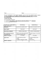 English Worksheets: WRITING TASK - COMPARE AND CONTRAST