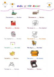 English Worksheet: IN-ON-UNDER
